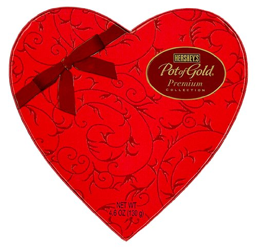 (Hershey's POT OF GOLD Premium Collection Valentine's Day Heart Box, 4.6 oz)
