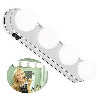 Sans Cosmétique La Maquillage 4 Pour Miroir Ampoules Portable Led Avec Coiffeuse De Cyberkit® LumièreLampe Fil 6Y7ybgf
