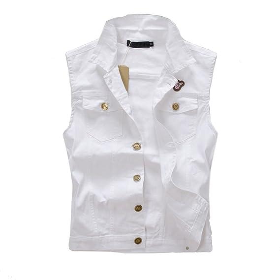 c0ad121b4 HHRONG Slim Men's Cowboy Vest Trendy Sleeveless Jacket Outerwear ...