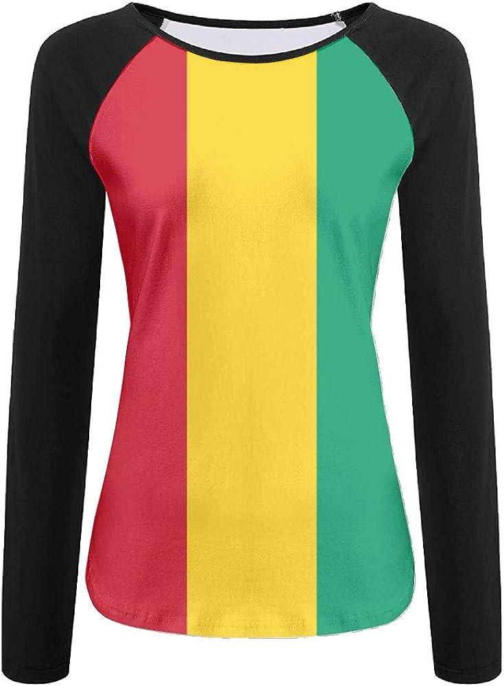 CUTEDWARF 3D Print Flag of Ethiopia Womens Long Sleeve Shirt Athletic Baseball Shirt