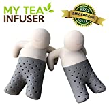 My Tea Infuser | 2 Pcs Innovative Design Tea Steeper With Efficient Filter and Infuser | Premium Food Grade Silicone | Microwave Friendly Durable Anti Damage Adaptive To Loose Tea Leaves Bags | 811