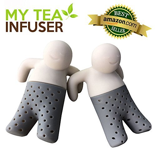 My Tea Infuser | Set of 2 The Most Innovative Design With Efficient Filter and Infuser | Premium Food Grade Silicone | Microwave Friendly Long Lasting and Anti Damage Adaptive To Loose Tea Leaves Bags