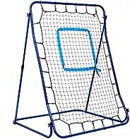 "Hathaway Carom Baseball Pitching Rebound Net with Steel Frame & Storage Bag, Blue/Black, 44"" W x 60&q"