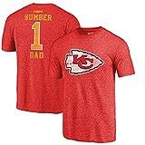 Fanatics Branded Kansas City Chiefs Greatest Dad Retro Tri-Blend T-Shirt – Red