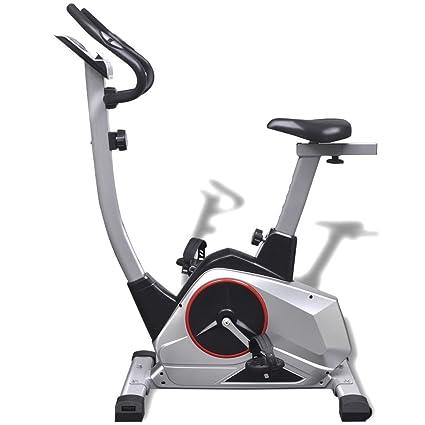 festnight bicicletas elíptica bicicleta estática XL movimiento magnético de impulsion 95 x 56 x 130 cm