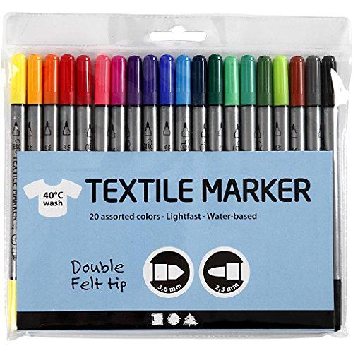 Tissu Pour Double 20 Textile Pointe Creativ Marqueurs qBEv8xt