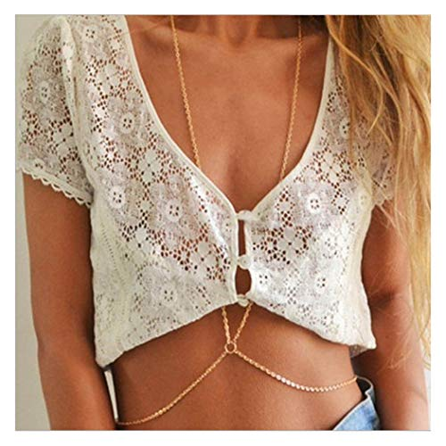 Catery Boho Sexy Crystal Body Chains Summer Beach Body Chain Fashion Body Accessories Jewelry for Women and Girls