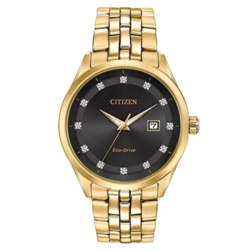 Men's Citizen Eco-Drive Corso Yellow Gold Diamond Accent Watch BM7252-51G Citizen Gold Wrist Watch