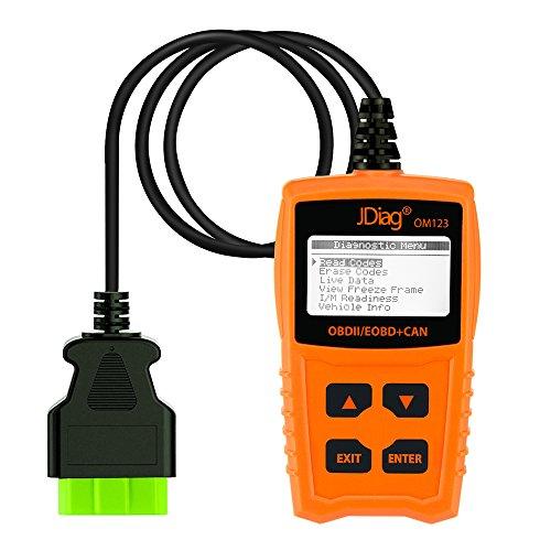 JDIAG Enhanced OBD2 Scanner Car Check Engine Light Code Reader CAN Diagnostic Scan Tool ()