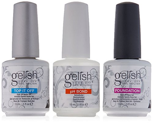 Gelish Gel LED 3 Pack - Foundation - Top - pH Bond