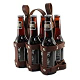 Fyxation Leather Bicycle Carrier (6-Pack), Brown
