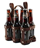 leather beer caddy - Fyxation Leather Bicycle Carrier (6-Pack), Brown