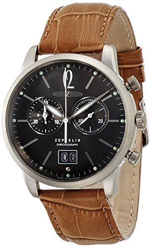 ZEPPELIN watch German Military LSeries gray dial Chronograph Date 73,861 Men's [regular imported goods]