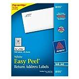 Avery Easy Peel Inkjet Return Address Labels, 2/3 x 1-3/4, White, 1500/Pack (8195), Office Central