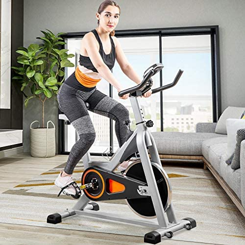 Merax Indoor Cycling Exercise Bike Cycle Trainer Adjustable Stationary Bike