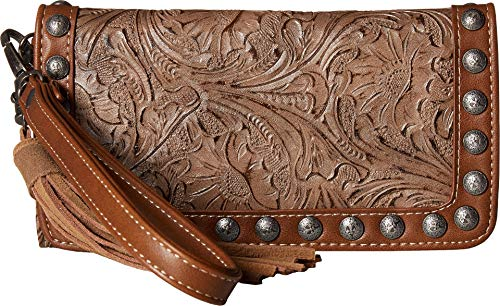 M&F Western Women's Ariana Clutch Wallet Brown One Size ()