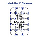 """Avery 1"""" Round Stickers for Laser and Inkjet"""
