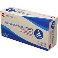 Dynarex Nitrile Exam Glove (Non-Latex) Powder Free L, Blue 10/100/Cs