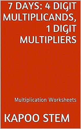 Free Worksheets education com free worksheets : 7 Multiplication Worksheets with 4-Digit Multiplicands, 1-Digit ...