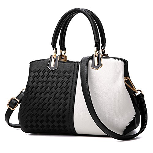 Tejido Tejida GUANGMING77 Match Negro Hombro and Lady Dos black Bolso The white Señoras Todos Estilo is Bolso style FnxWwnSrpv