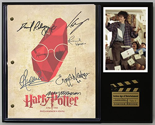 "Harry Potter The Sorcerers Stone Limited Edition Reproduction Movie Script Cinema Display""C3"""