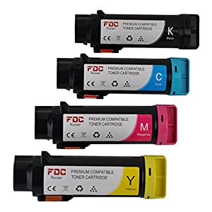 FDC Toner Replacement Toner Cartridges Compatible With Dell H825cdw, S2825cdn Printers Set of 4 Packs for Black 593-BBPB, Cyan 593-BBPC, Magenta 593-BBPD, Yellow 593-BBPE