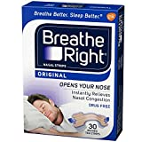 Breathe Right Nasal Strips Original Tan Small/Medium 30 ea (Pack of 11)