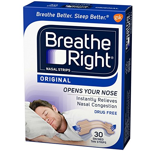 Breathe Right Nasal Strips Original Tan Small/Medium 30 ea (Pack of 11) by Breathe Right
