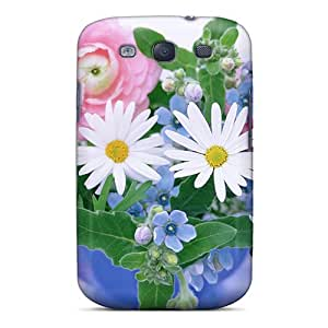 New Tpu Hard Case Premium Galaxy S3 Skin Case Cover(morning Blossoms)