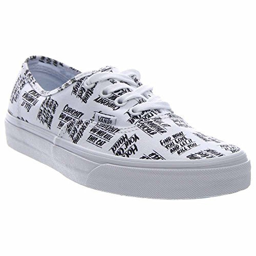 Basse Scarpe Unisex Authentic Vans White Adulto Ginnastica Black da qB514wI