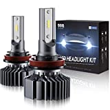 SEALIGHT H11 LED Headlight Bulb Low Beam or Fog Light,Non-Polarity,Upgraded 12xCSP Chips H8/H9 Conversion Kit Halogen Replacement 6000K Xenon White(Pack of 2)