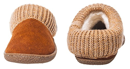 Festooning Donna Plush Foderato In Maglia Microsuede Slip On Memory Foam Clog House Antiscivolo Pantofole Scarpe Indoor Outdoor Marrone