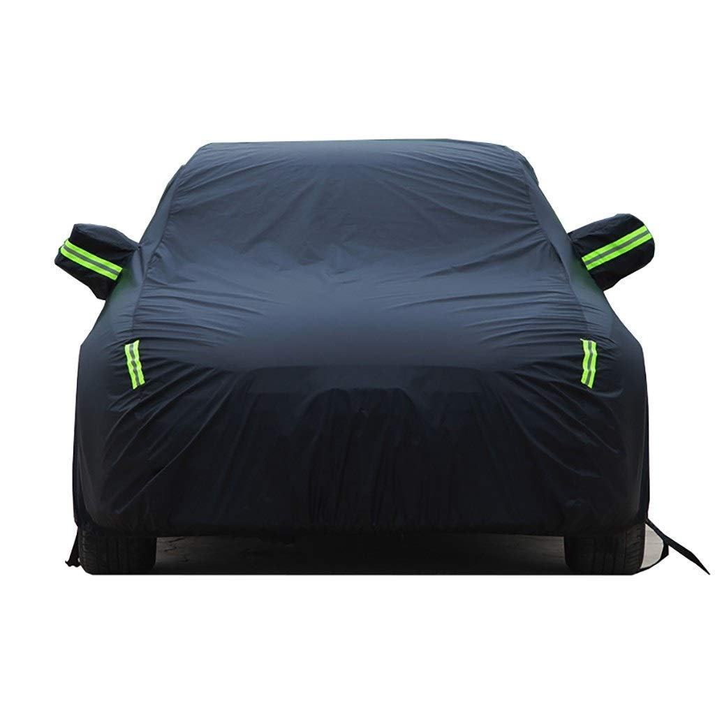Jsmhh Compatible with Ford Escort Outdoor Car Cover, Four Seasons Universal Fully Waterproof Scratch Proof Durable Car Cover Breathable Cotton Lined Heavy Duty (Color : Black) by Jsmhh