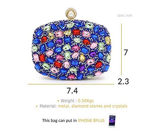 Bag Shimmer Clubs Clutch for Party Rhinestone Party Wedding Silver Handbags for Women Handbag Evening Purses 5zAwqU