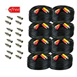 GW 8 x 200 Feet Pre-made All-in-One BNC Video and Power Cable with Connectors for Surveillance CCTV Security Camera Video System, Black