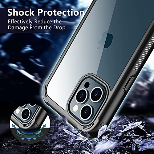 SPIDERCASE Compatible with iPhone 12 Pro Max Case, Not Waterproof with Built-in Screen Protector Full Heavy Duty Protection Shockproof Anti-Scratched Rugged Case for iPhone 12 Pro Max