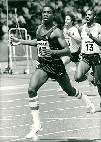 (Vintage photo of Derek Redmond competing.)