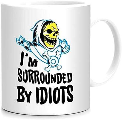 I'm surrounded by idiots Mug: Amazon com: Upteetude_uae