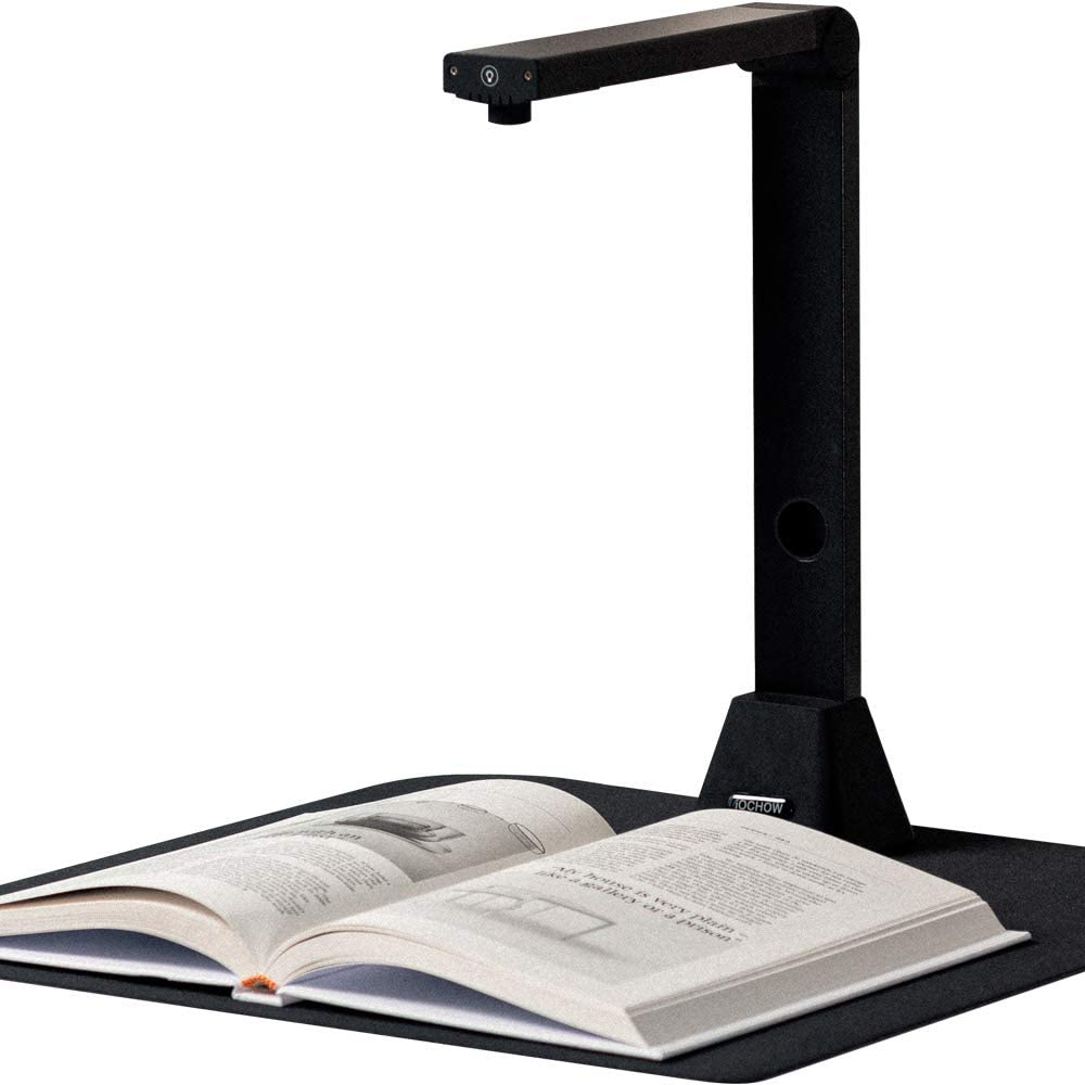 iOCHOW S5 Book & Document Camera, 22MP High Definition Professional Portable Book Scanner, Auto-Flatten & Deskew Tech, Capture Size A3, Multi-Language OCR, SDK & Twain for Office and Education