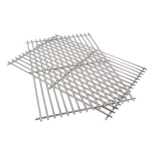 Hisencn Replacement 52932(Set of 2) Stainless Stell Cooking Grid for Centro, Charbroil, Front Avenue, Fiesta, Kenmore, Kirkland, Kmart, Master Chef, and Thermos Gas Grill
