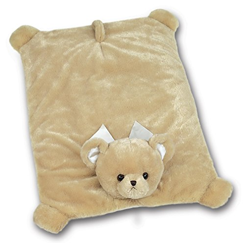 Bearington Baby Lil' Teddy Bear Belly Blanket, Brown Plush Stuffed Animal Tummy Time Play Mat (Velour Playmat)