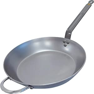 De Buyer MINERAL B Round Carbon Steel Fry Pan 12.5 Inch
