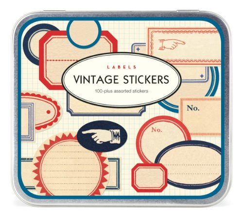 Cavallini Vintage 100 Plus Assorted Labels Stickers by Cavallini & Co.
