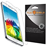Samsung Galaxy S5 Screen Protector [5-Pack][Galaxy S V], Flex Shield - Ultra Clear Japanese PET Film with Lifetime Warranty - Bubble-Free HD Clarity with Anti-Fingerprint & Scratch Resistance