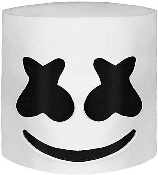koobea Fiesta de Halloween Night Club Latex Blanca Máscara para DJ ...