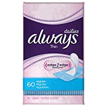Always Thin Dailies, Unscented, Wrapped 60 Count