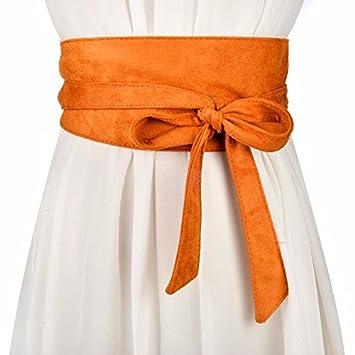 QIER-YD Cinturones Anchos para Mujer Cinturones anudados Largos Accesorios  de Moda con Cinturones de Vestir  Amazon.es  Deportes y aire libre eb396038e17a