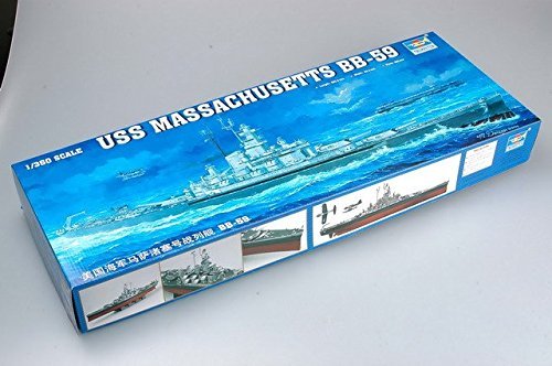 (Trumpeter 1/350 Scale USS Massachusetts BB59 Battleship)