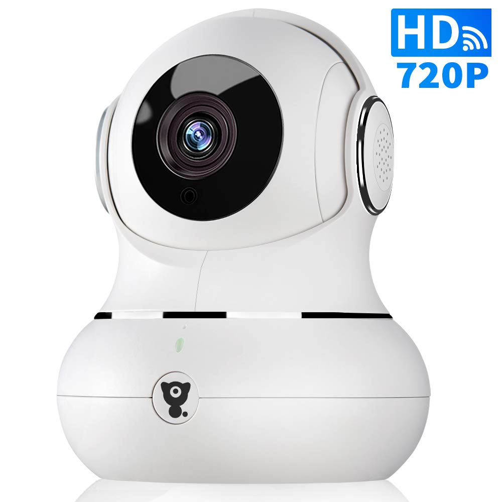 720P WiFi IP Indoor Home Camera - Littlelf Panoramic Security Wireless Pet Camera, Baby Monitor with 2-Way Audio, Night Vision, Remote with iOS & Android App, TF Card or Cloud Storage