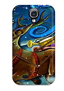 New Premium Flip Case Cover Awesome Christmas Santa Claus Skin Case For Galaxy S4